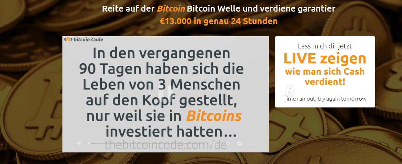 Bitcoin Prime App Erfolgsmeldungen