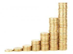Geld Turm - Geld sparen - Geld gewinnen