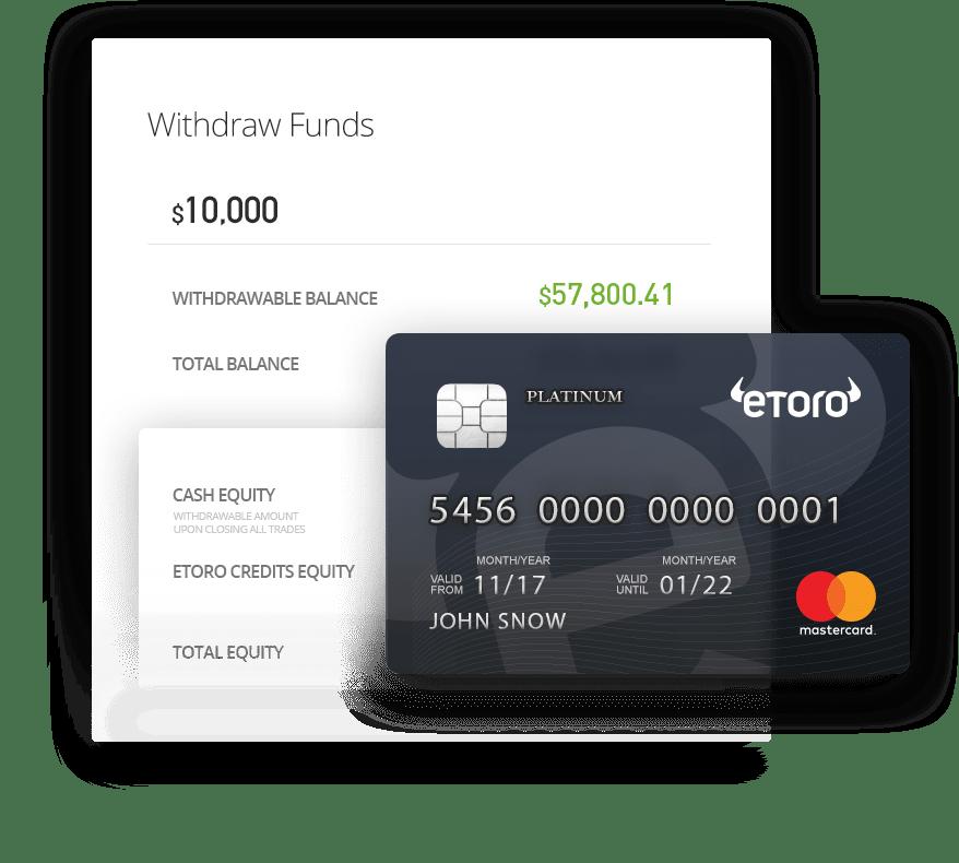 Auszahlungen und Einzahlungen bei eToro