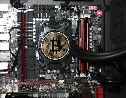 Kryptomining - Grafikkarte mit Bitcoin
