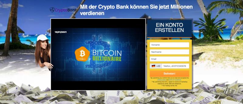 Crypto Bank Homepage