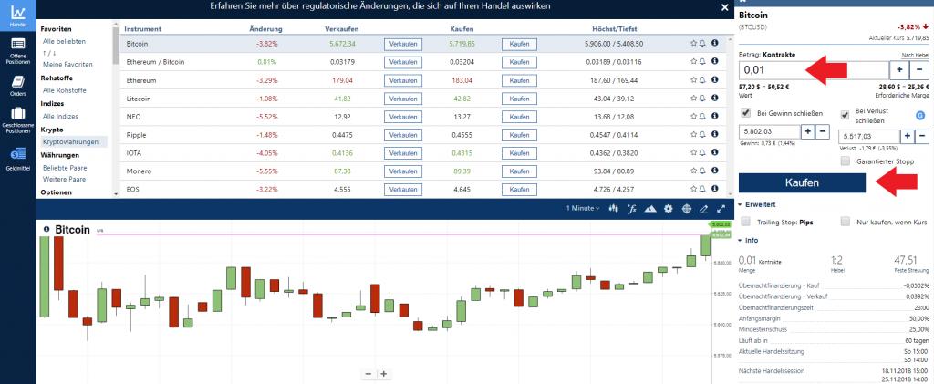 Bitcoin-CFD bei Plus500 kaufen