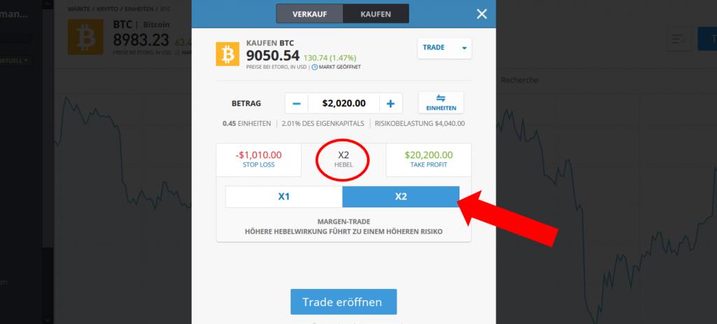 Bitcoin CFD kaufen bei eToro