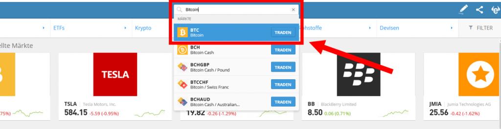 Bitcoin-Kauf-eToro