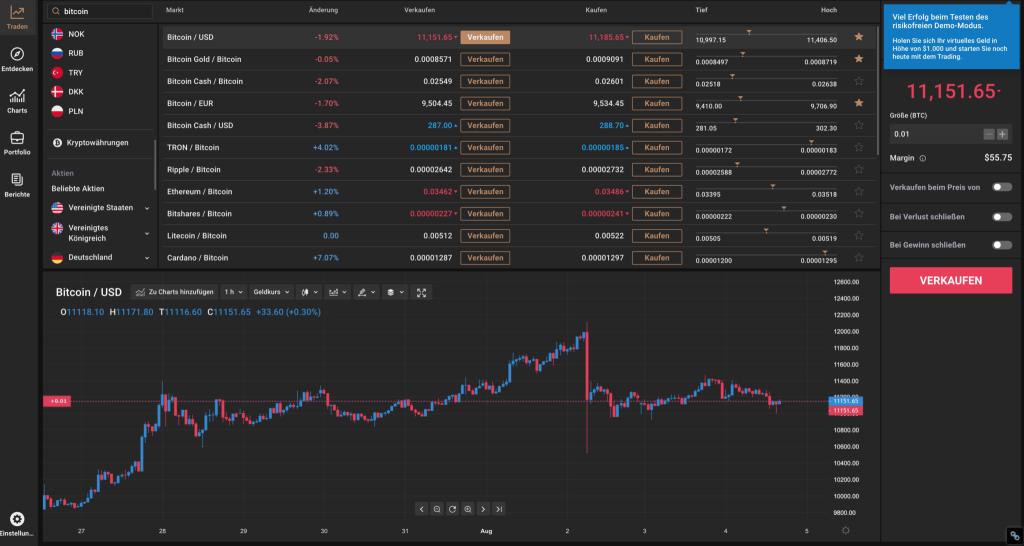 Capital.com Trading Plattform