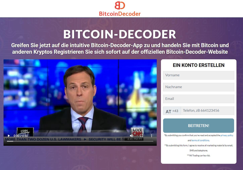 Bitcoin-Decoder-Webseite