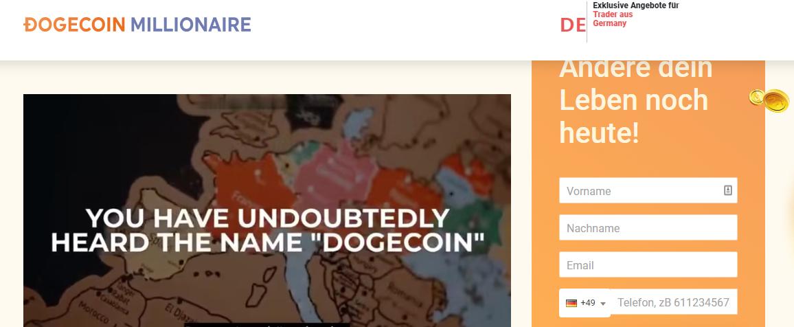 Dogecoin-Millionaire website