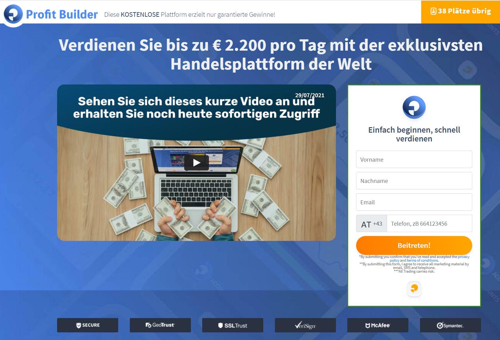 Profit-Builder-Webseite