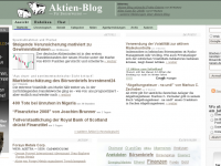 Seit 2006 berichtet Aktien-Blog tagesaktuell vom Geschehen an der Börse