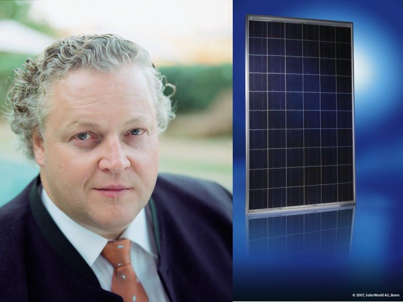 Solarworld-CEO Frank Asbeck sieht sein Unternehmen für den Kampf um Marktanteile gut gerüstet - Aktionäre glauben ihm.