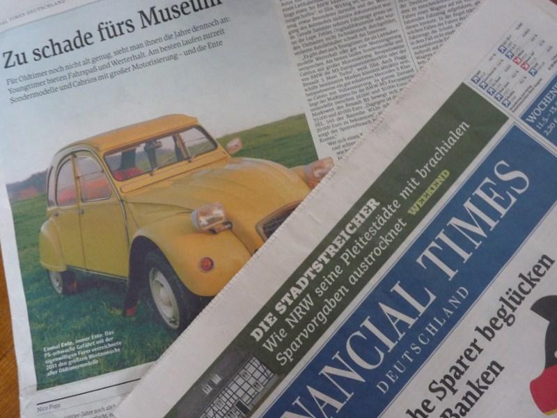 Der Financial Times Deutschland droht das Aus