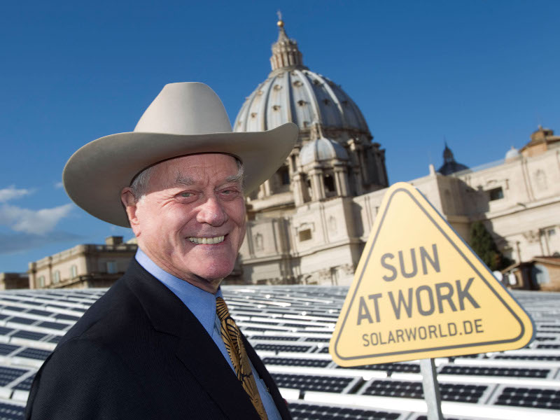 Dallas-Fiesling J. R. alias Larry Hagman wirbt für Solarworld (Foto: Solarworld AG)