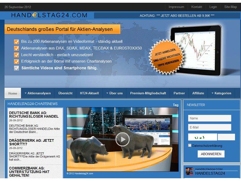 Will Nutzern die Technische Analyse ohne Fachchinesisch nahebringen: Handelstag24