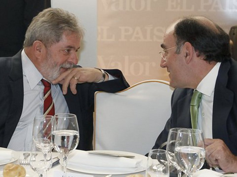 Iberdrola-Chef Galán beim Tête-à-Tête mit Ex-Präsident Lula (Quelle: Iberdrola)