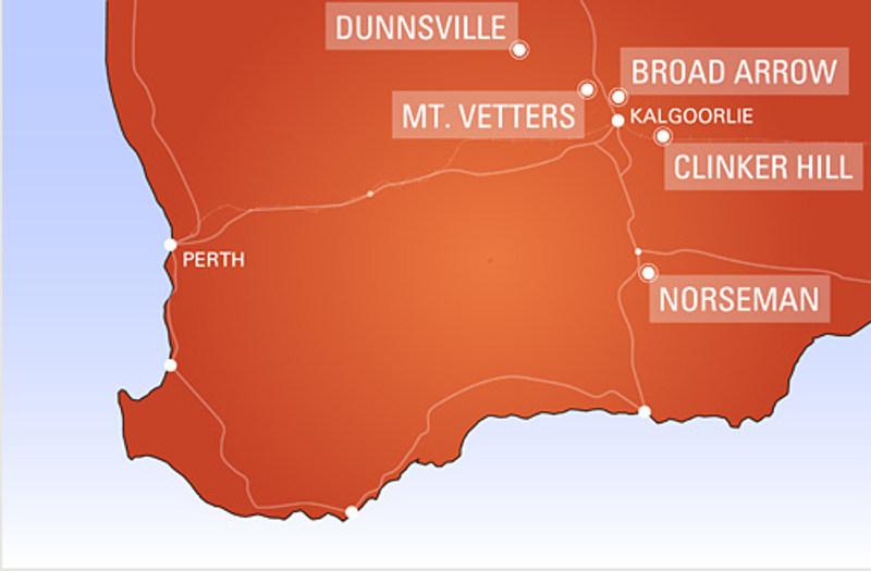 Übersicht der australischen Projekte von Matsa Resources (Bild: Matsa Resources)