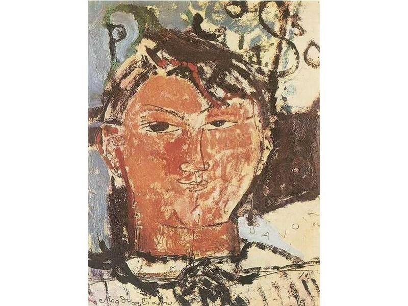 Kunst von Amedeo Modigliani: Bildnis Pablo Picasso