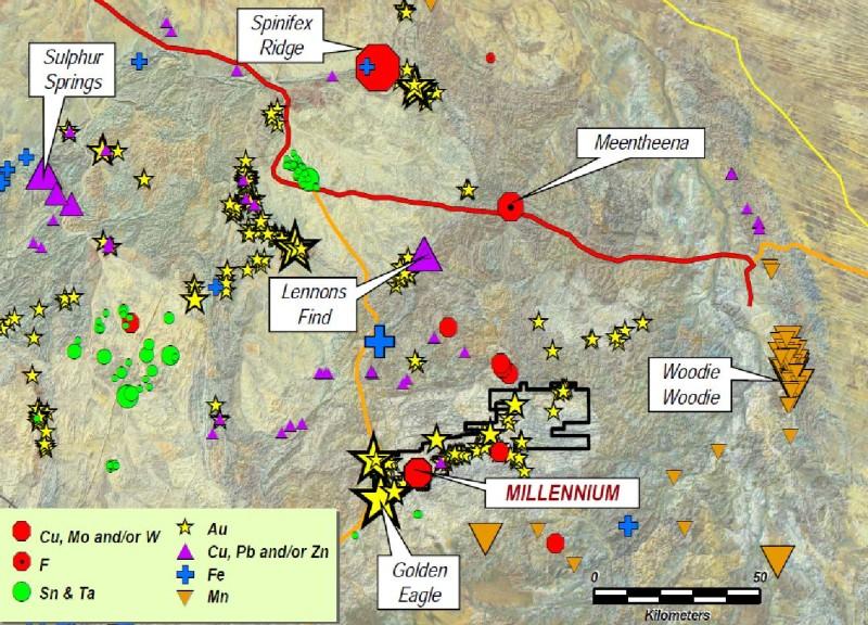 In der Pilbara-Region gibt es neben Millennium Minerals weitere interessante Projekte
