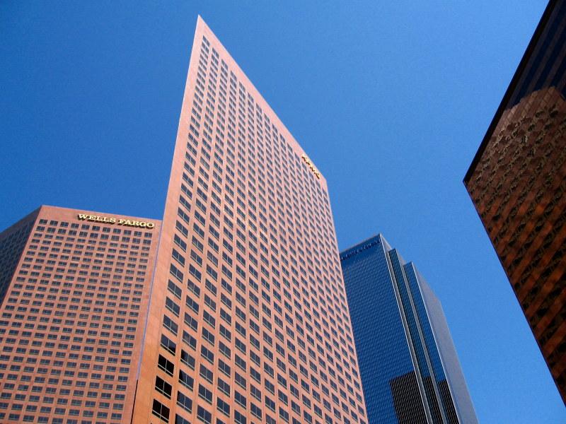 Wells-Fargo-Center in Los Angeles: Geschönte Bank-Bilanzen sind nicht mehr als Fassade