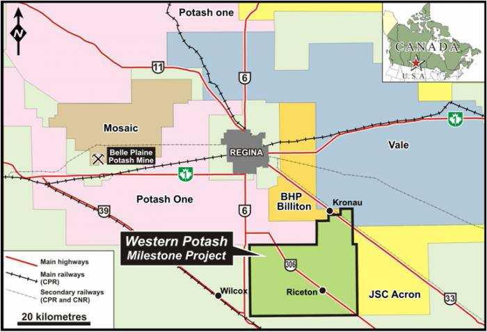 Exponierte Lage: Western Potash exploriert inmitten der Großen der Branche